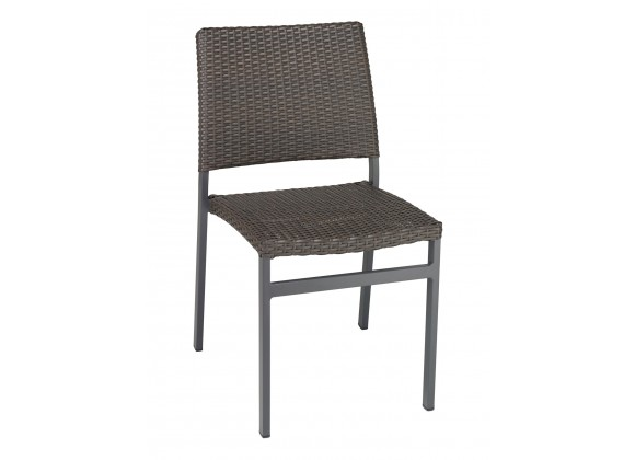 Powder Coating Aluminum Side Chair W/ Textile Back and Seat - AL-5725S