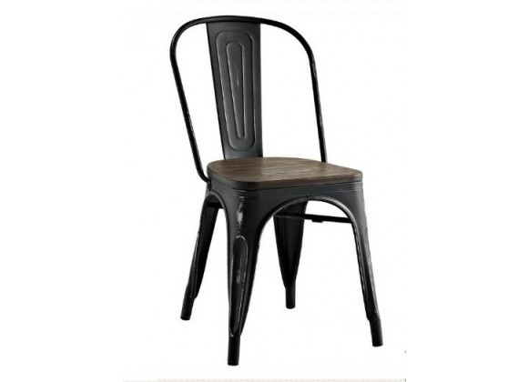 Aron Living Tolix Wood Seat Side Chair
