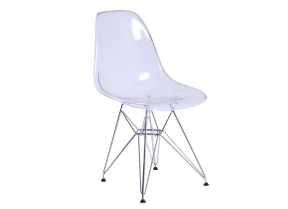 Aron Living Tower Wireleg Chair Clear - Front