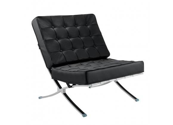Aron Living Pavilion Lounge Chair Black - Front