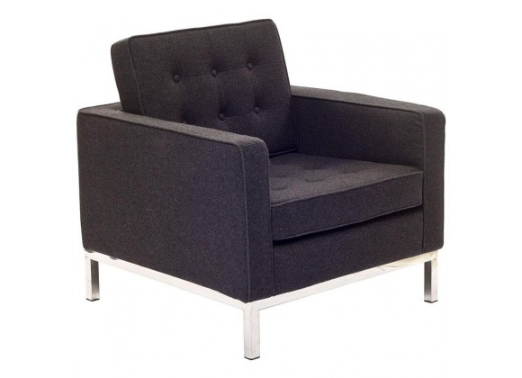 Aron Living Rolina Lounge Chair Wool Black
