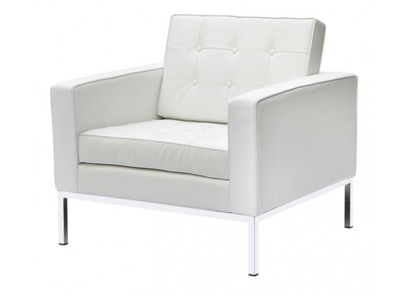 Aron Living Lounge Chair Leather White