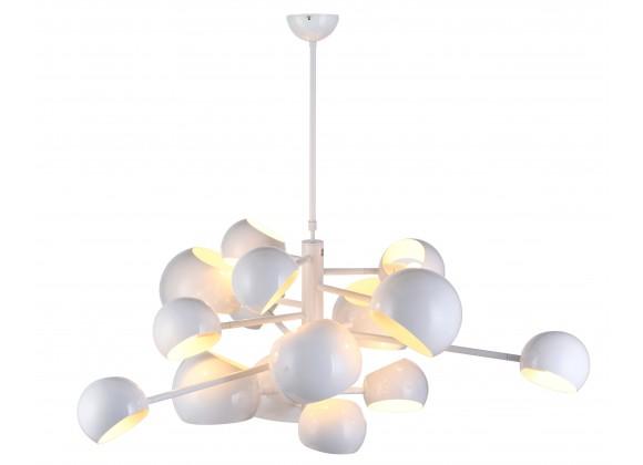 Molecule 14-Head Pendant Lamp High Gloss White - Lit