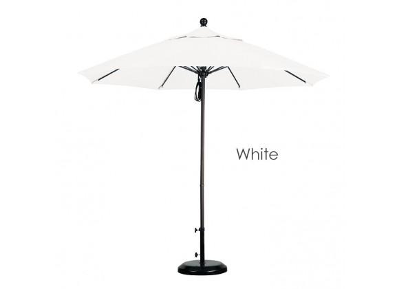 2cd67b582ff6 California Umbrella 9' Fiberglass Market Umbrella Pulley Open Bronze -  Olefin
