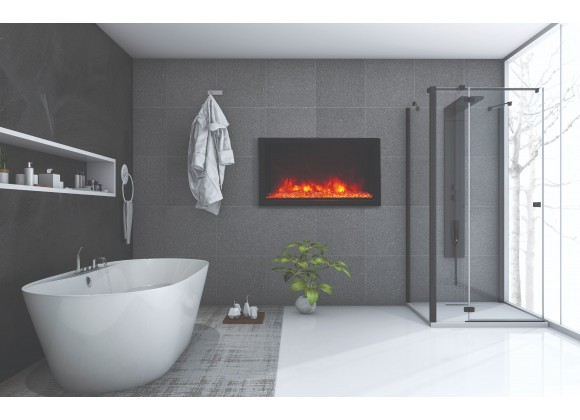 40″ Wide – Deep Indoor or Outdoor Electric Built-in only with Black Steel Surround - Lifestyle