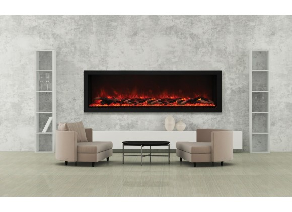 72″ Wide – Deep Indoor Or Outdoor Electric Built-in Only With Black Steel Surround - Lifestyle