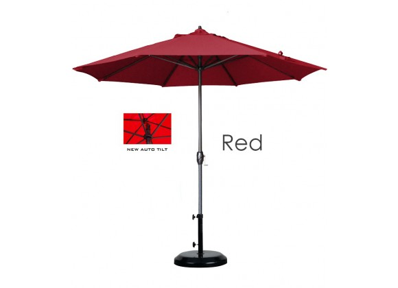 California Umbrella 9' Aluminum Market Umbrella Auto Tilt Crank Lift Bronze - Olefin