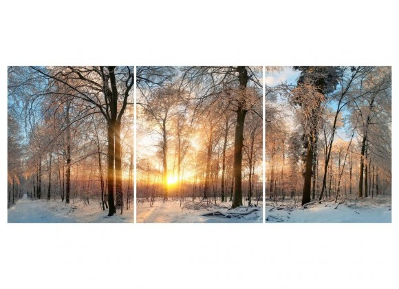 Winter 24''x43'' Each Piece Acrylic Color Painting