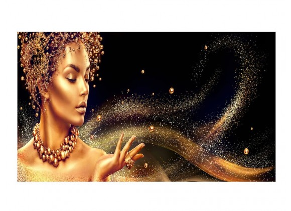 Golden 40''x72'' Acrylic Color Painting