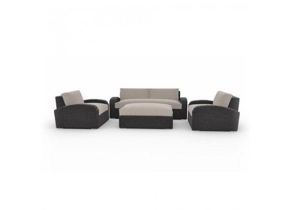 Toja Azores Charcoal Couch Set in Cast Ash Cushion