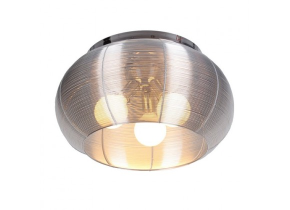Bromi Lenox 3 Light Round Silver Flush Mount