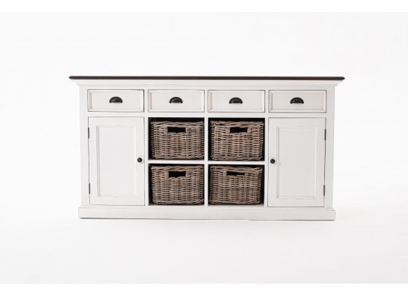 Nova Solo Buffet With 4 Basket Set - Front with Drawers Closed