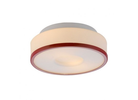 Bromi Lynch Opal w/Red Ring Flush Mount Ceiling Light