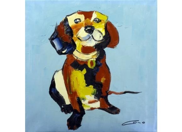 Happy Dog Wall Art
