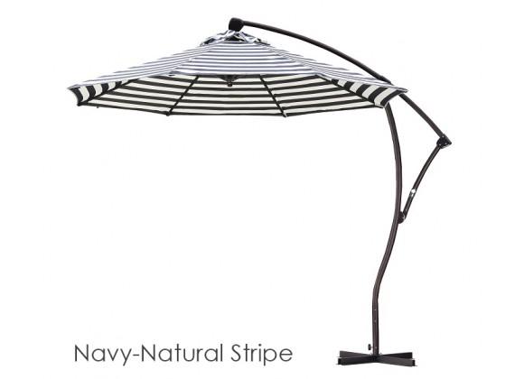 California Umbrella 9' Cantilever Market Umbrella Delux C Lift - Bronze - Olefin
