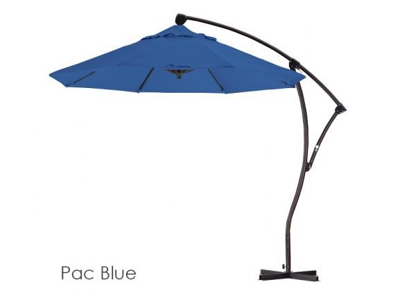California Umbrella 9' Cantilever Market Umbrella Delux C Lift Bronze - Spun Polyester