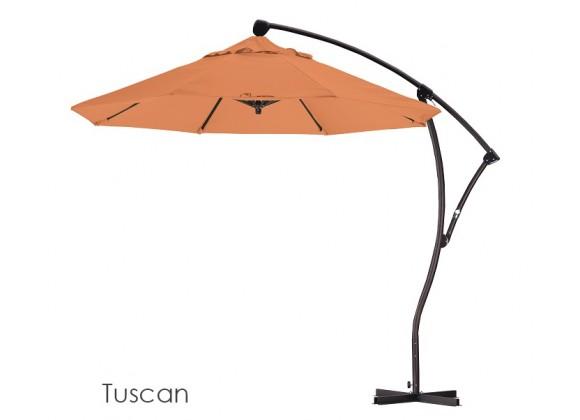 California Umbrella 9' Cantilever Market Umbrella Delux C Lift - Bronze - Pacifica