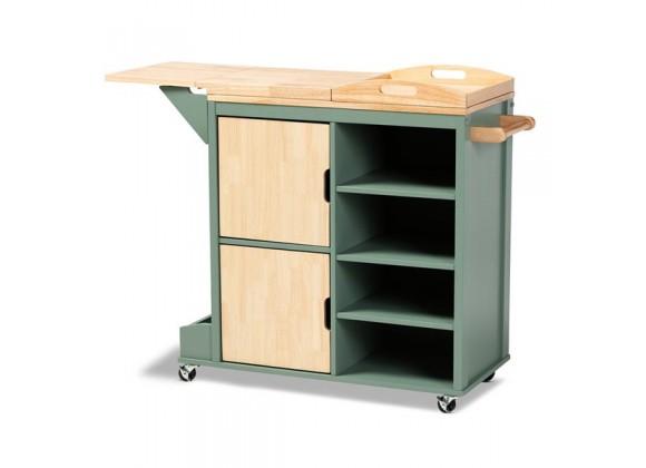 Baxton Studio Dorthy Two-Tone Kitchen Storage Cart