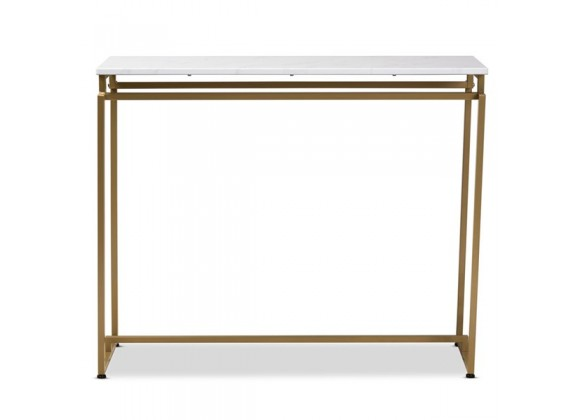 Baxton Studio Renzo Faux Marble Table Top Console Table