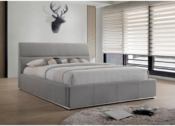 Reve King Bed Grey Fabric