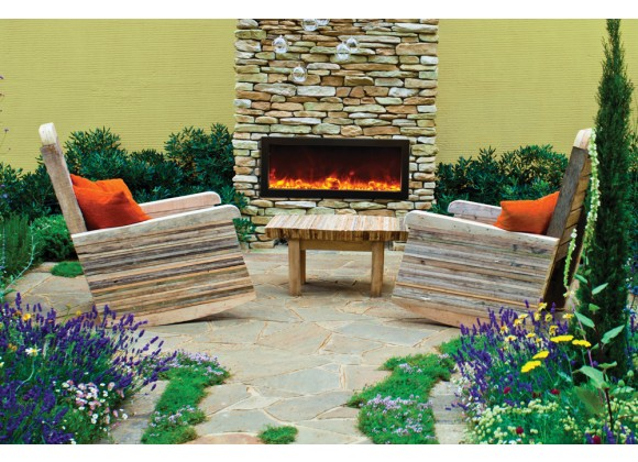 "Amantii 40"" Deep Outdoor Electric Fireplace"