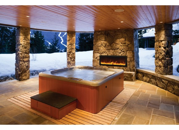 """Amantii 40"""" Slim Outdoor Electric Fireplace"""