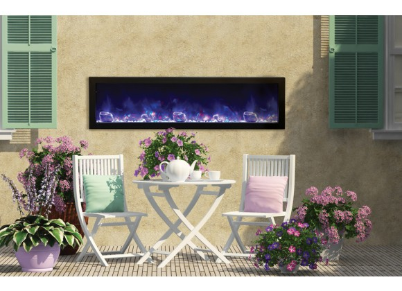 "Amantii  60"" Deep Outdoor Electric Fireplace"