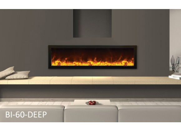 "Amantii 60""  Deep Electric Built-in w/ Black Steel Surround"