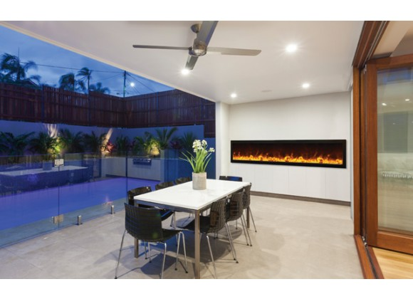 "Amantii 88""  Deep Outdoor Electric Fireplace"