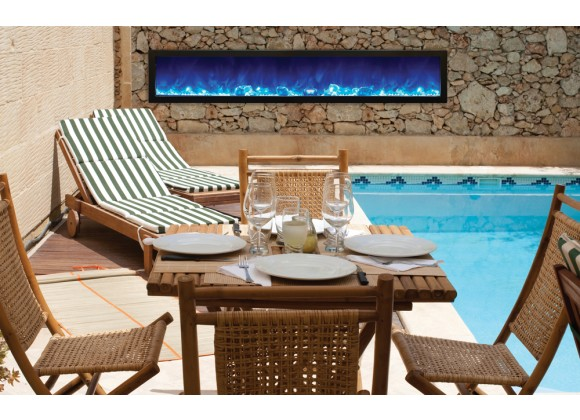 """Amantii 88"""" Slim Outdoor Electric Fireplace"""