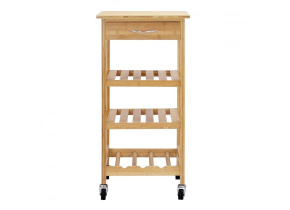 Oceanstar Bamboo Kitchen Trolley - Front