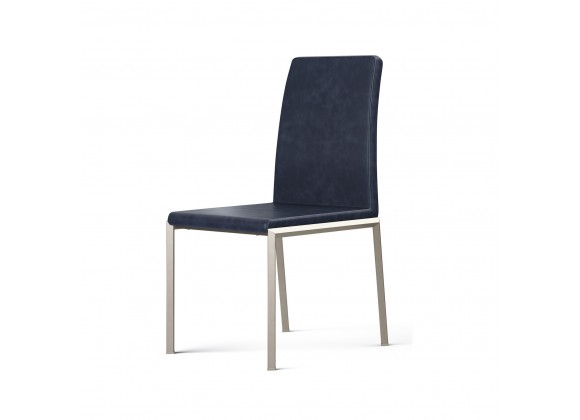 B-Modern Social Dining Chair - Gray Stainless Perspective