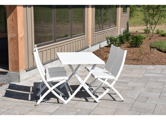 Brunch Folding Table and Bachelor Chairs 5 pc Set