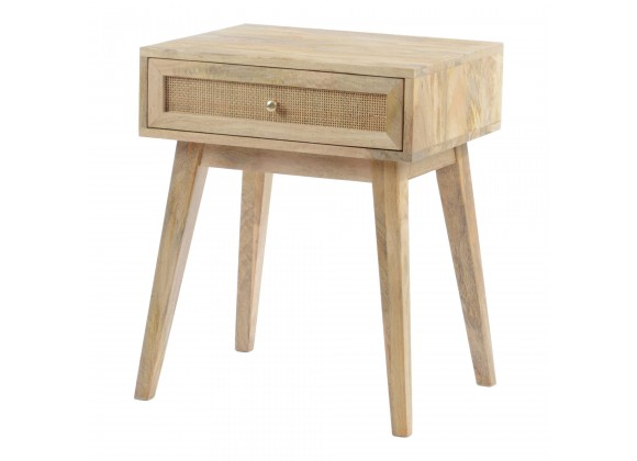 Moe's Home Collection Reed Side Table Natural - Angled View