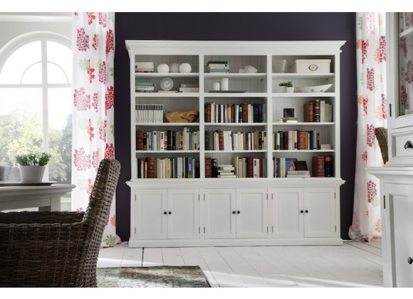 Nova Solo HALIFAX Triple Bay Hutch Bookcase - Lifestyle