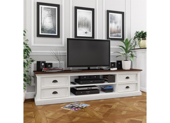 Halifax Accent TV Unit With 4 Drawers And 2 Open Shelves Lifestyle