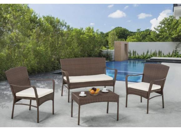 Arcadia Collection Outdoor Garden Patio Furniture 4PC set w/ Table