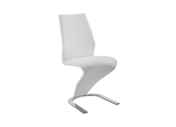 BOULEVARD White Eco-leather Dining Chair