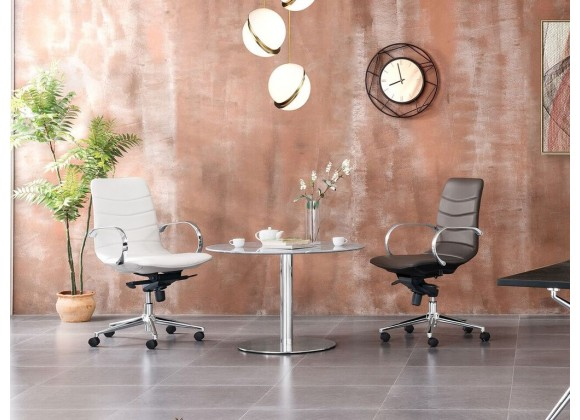 Casabianca HORIZON Arm White Eco-leather Office Chair - Lifestyle