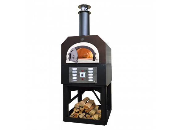 CBO-750 Hybrid Commercia/Residentiall Stand: (Pre-Assembled) Custom-Built Heavy-Duty Stand with Metal Insulating Hood and Gas Package - Copper -  Angled