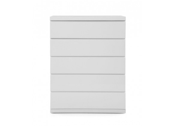 Anna Chest High Gloss White Full Extension Drawers