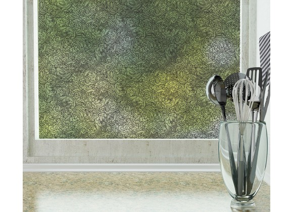 Odhams Press Sketchbook Frosted Non-Adhesive Decorative Window Film - Privacy Cling Film