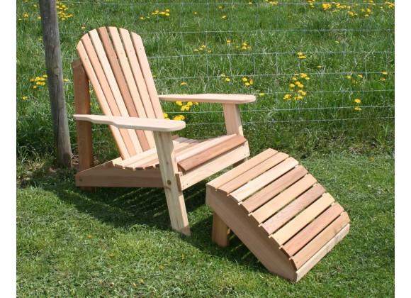 Cedar American Forest Adirondack Chair & Footrest Set