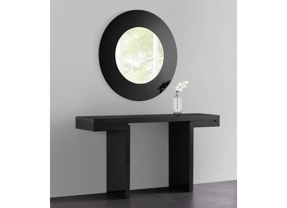 Delaney Console In High Black - Lifestyle