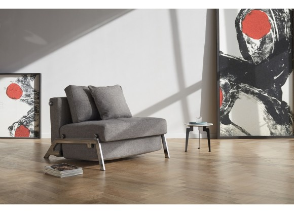 Cubed 02 Chair In Mixed Dance Gray Fabric - Lifestyle