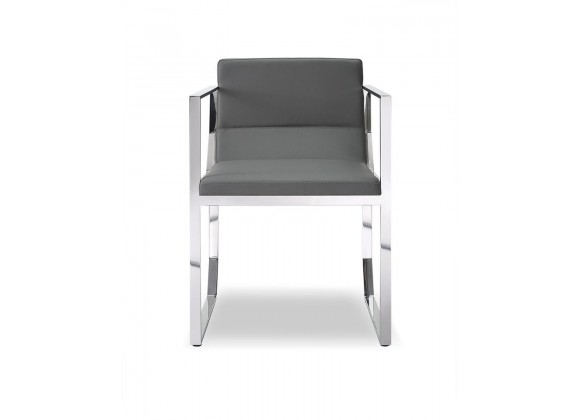 Blake Dining Armchair Gray - Front