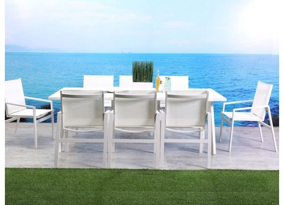 Whiteline Modern Living Rio Indoor / Outdoor Dining Armchair - Set of 4