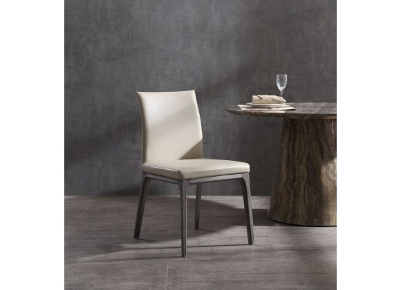 Stella Dining Chair With Taupe Faux Leather - Lifestyle