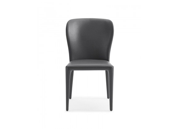 Hazel Dining Chair With Gray Faux Leather - Front