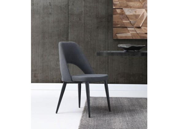 Audrey Dining Chair In Blue Navy Leather